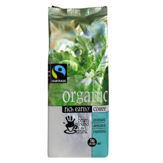 Organic Bean Ground & Drunk Coffee Beans 1kg
