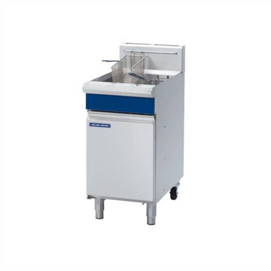 Blue Seal GT45 450mm Vee Ray Single Pan Gas Fryer 20 litre Cap.