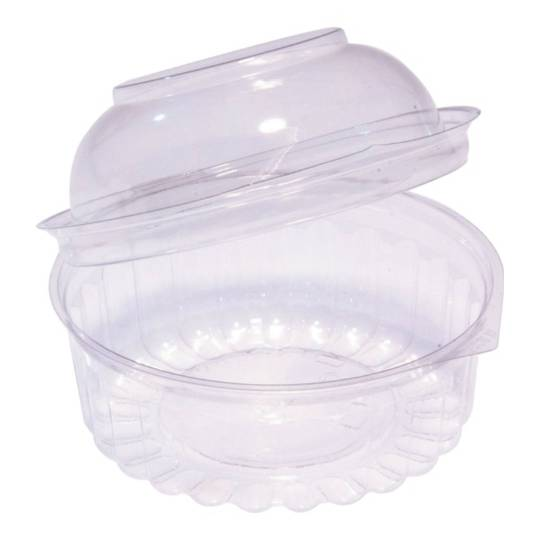 Clear Round Food Bowl w Dome Hinged Lid 341ml/12oz x 250