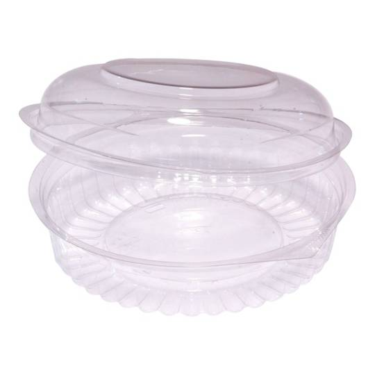 Clear Round Food Bowl with Dome Hinged Lid 20oz x 150
