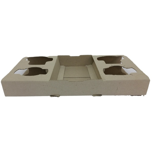 Detpak 4 Cup Carrier Trays x 100