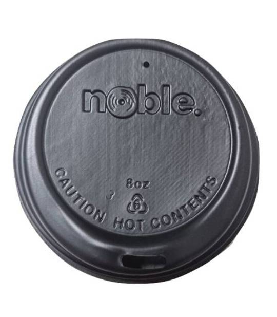 Noble 8 oz BLACK Sipper Lids x 100