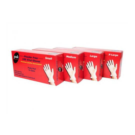 Pak Small Clear Vinyl Gloves x 100