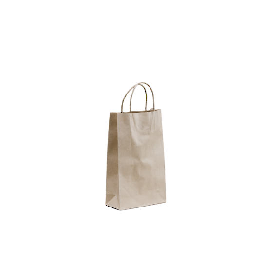 Kraft Paper Baby Bags 265x160+17 Twisted handle x 500