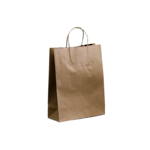 Brown Paper Small Bags 350 x 260 + 110 Twisted handle x 250