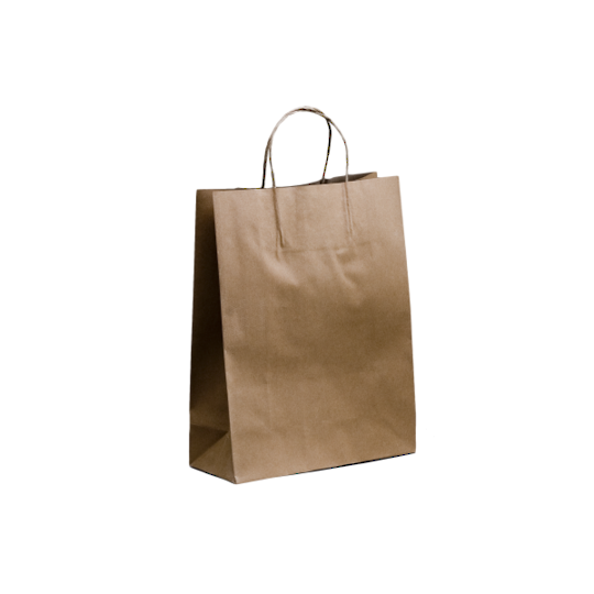 Kraft Paper Small Bags 350 x 260 + 110 Twisted handle x 250