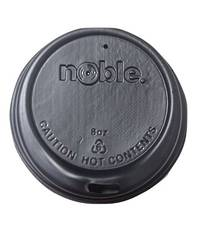 Noble 8 oz BLACK Sipper Lids x 50